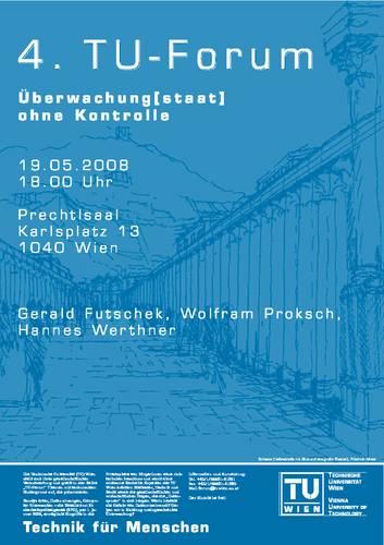 4. TU-Forum Plakat