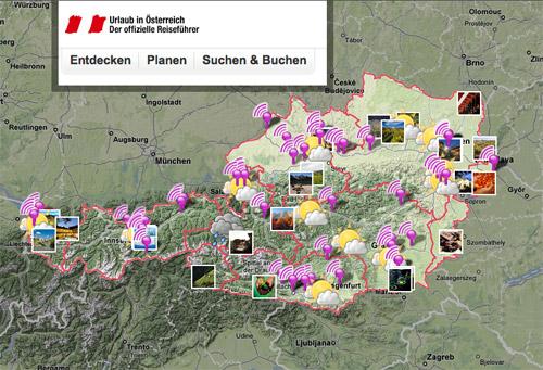 Österreich Werbung Screenshot