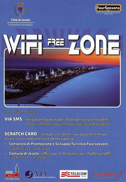 Flyer: WLAN in Jesolo