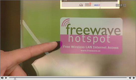 Screenshot des ORF-Beitrags über Freewave