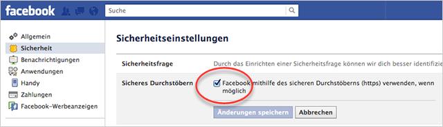 HTTPS bei Facebook
