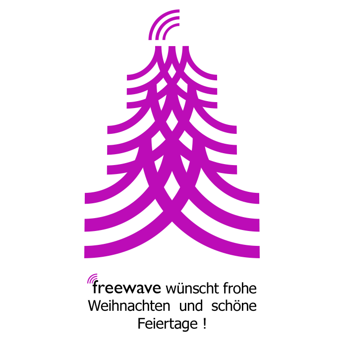 Freewave wünscht frohe Weihnachten