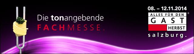 """Banner für die """"Alles für den Gast 2014"""" Messe in Salzburg"""