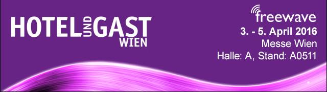 """Logo von der Messe """"Hotel & Gast Wien 2016"""""""
