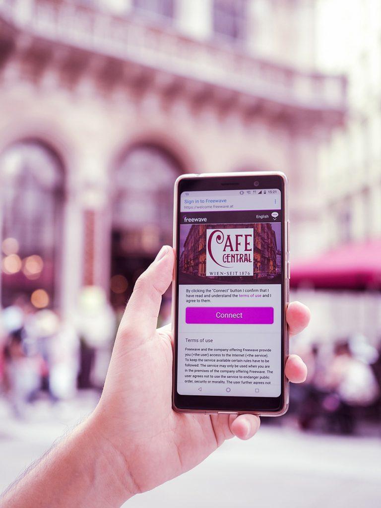 Cafe Central Freewave-Bildschirm |Freewave