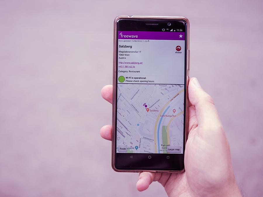 Freewave-Hotspot Status abrufen in der App