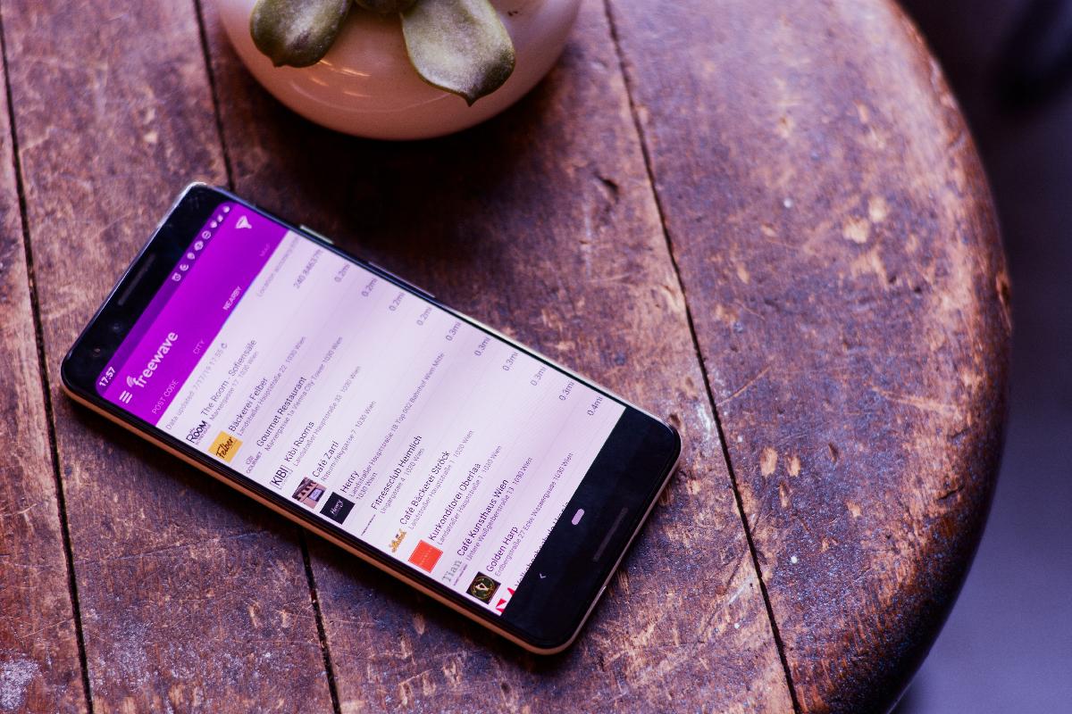Freewave-App: Hotspots nearby