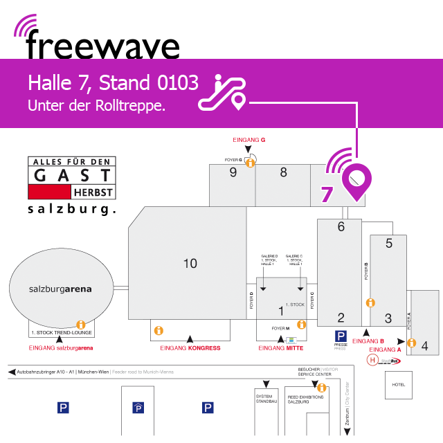 Gastmesse Salzburg: Standort 2019 | Freewave