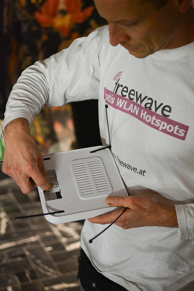 Freewave-Installation: Clubbar Sechser