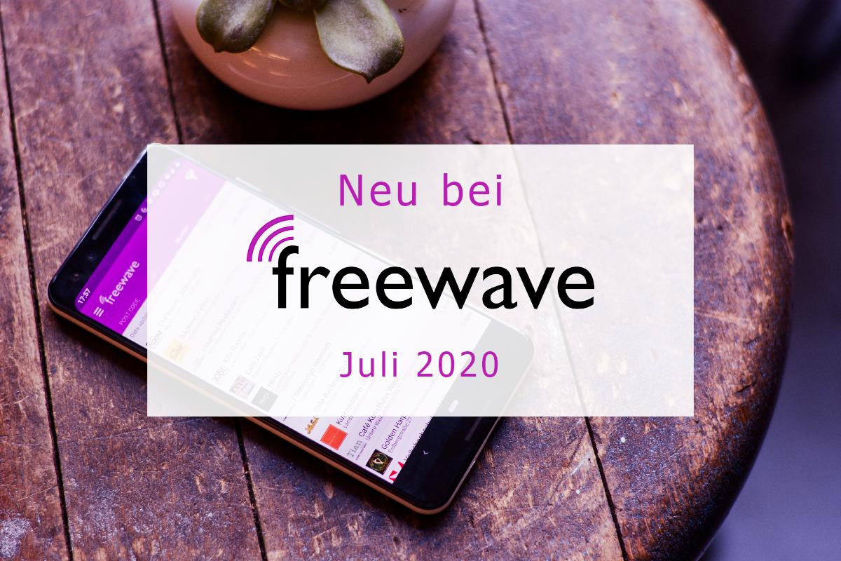 Freewave-Hotspots: Juli 2020