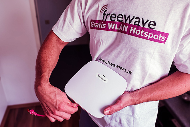 Freewave: Hotspot-Installation