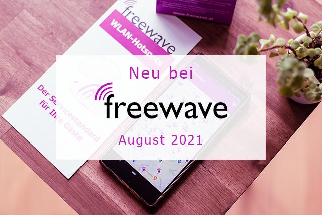Freewave-Hotspots im August 2021